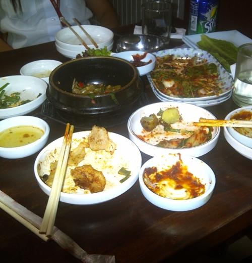Tasted and enjoyed Korean food. Taken at Jang Soo, a Korean resto with unlimited samgyeopsal.